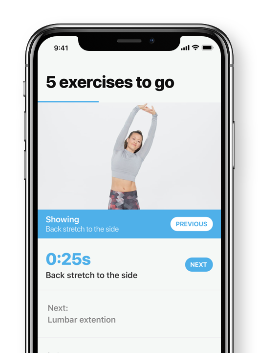 Following an exercise schedule in the Boris app